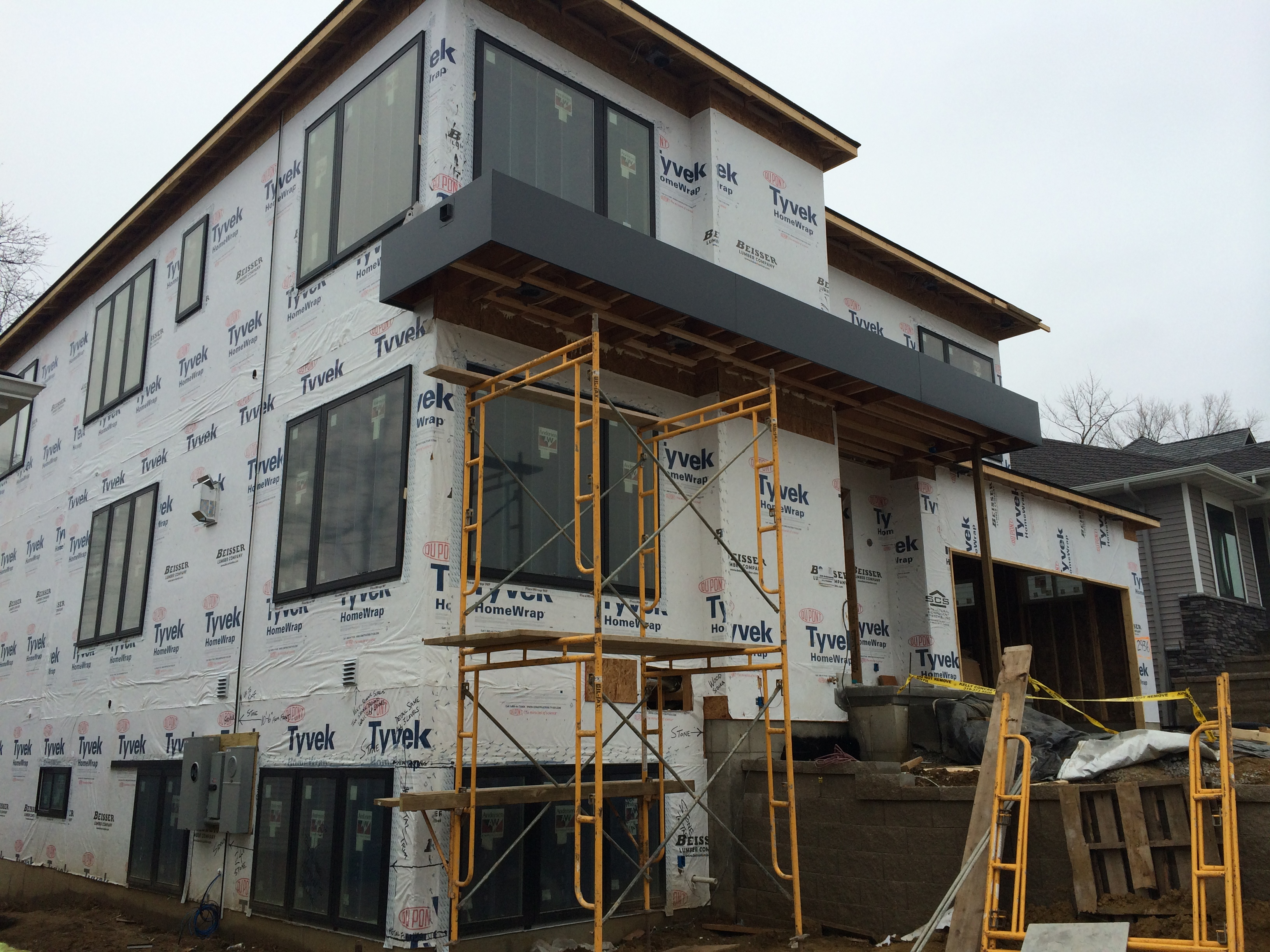 Aluminum Fascia Panels- Residence, Iowa City IA