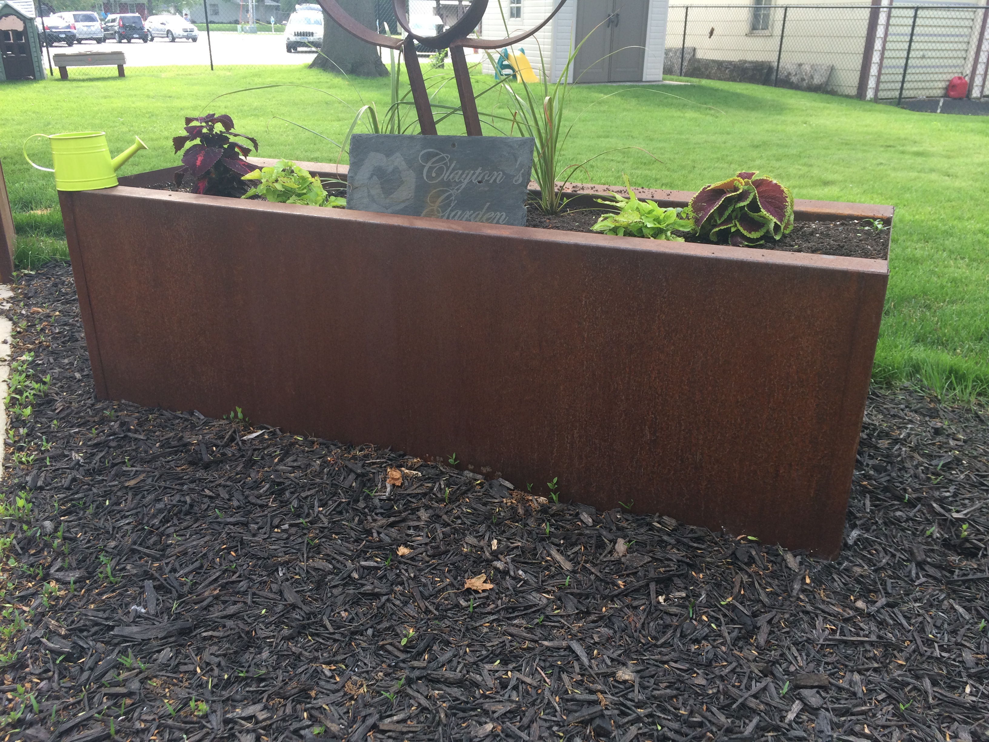 16 Gauge A606-4 Steel ( AKA Corten ) Planter Box